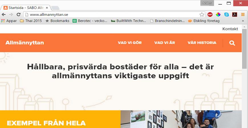 Allmännyttan.se, ny sajt från SABO med innehåll från CfN
