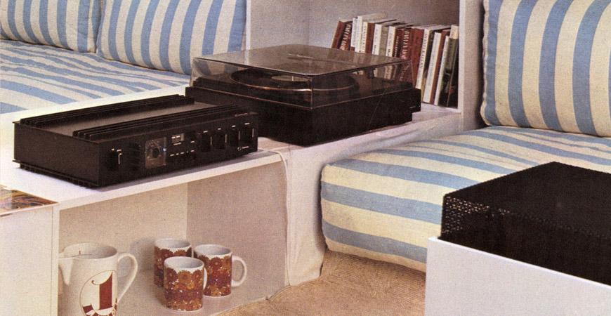 På bilden skivspelaren Sonab 85S, förstärkare + radio Sonab R 4000 och en högtalare OA-5. Foto: Sonab