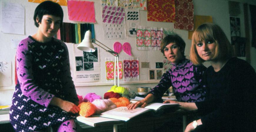 Den berömda trion bakom bildandet av Mah-Jong 1967: Helena Henschen, Veronica Nygren och Kristina Torsson