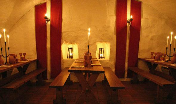 Borden är dukade. Foto: Källaren Stralsund