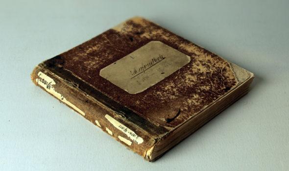 Ericssons första huvudbok från 1882. Ur Ericssons arkiv hos Centrum för Näringslivshistoria