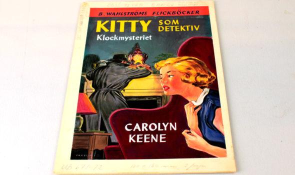 Omslaget till första Kittyboken från 1952. Ur B.Wahlströms Bokförlag AB:s arkiv hos Centrum för Näringslivshistoria