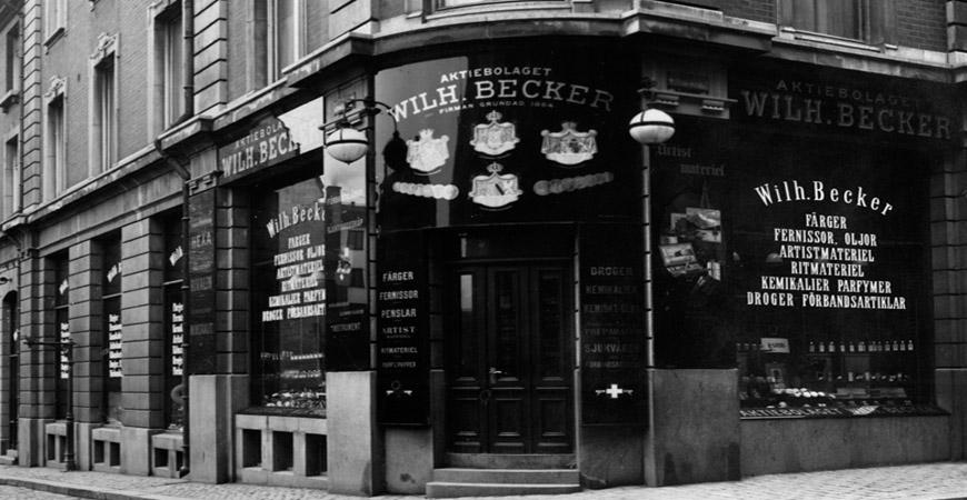 Tysk reseförsäljare grundade Beckers Färg