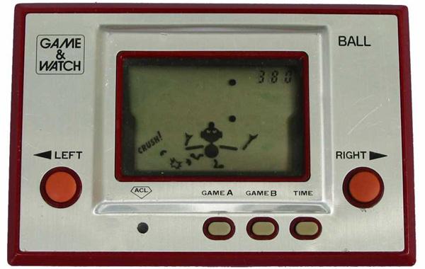 Det första Game & Watch spelet Ball, från 1980. Foto: Giantbomb.com