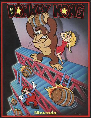 Affisch för arkadversionen av Donkey Kong 1981.