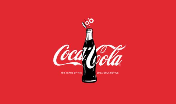 Reklambild för Coca-Cola flaskans 100 år. Källa Coca-Cola