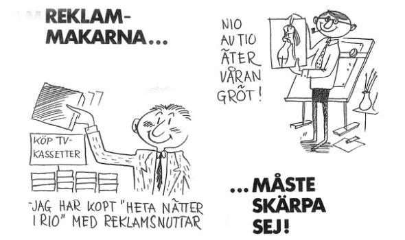 """Från ICAs framtidsbok 1960: """"Så handlar vi om 10 år"""". Illustration av Lars Ljungqvist."""