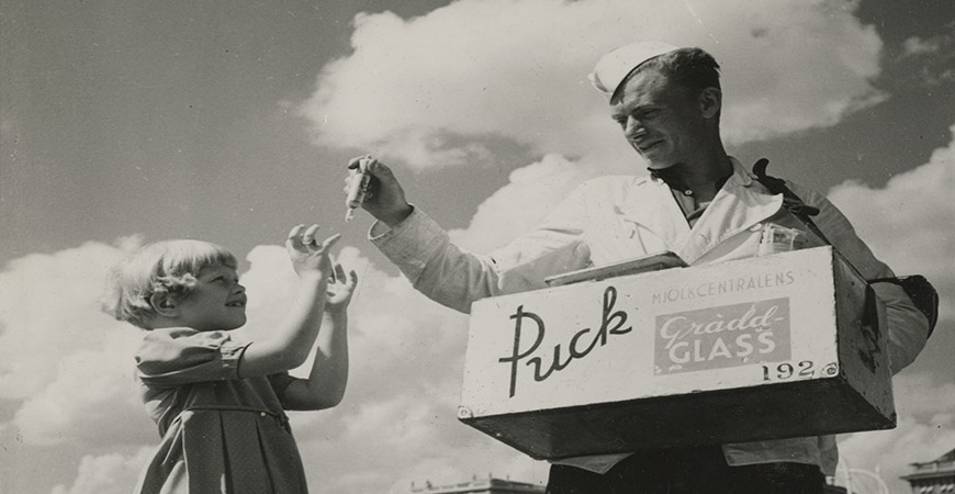 Puck - Sveriges första glasspinne
