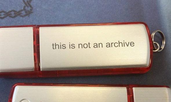 En usb-sticka är inte ett arkiv!