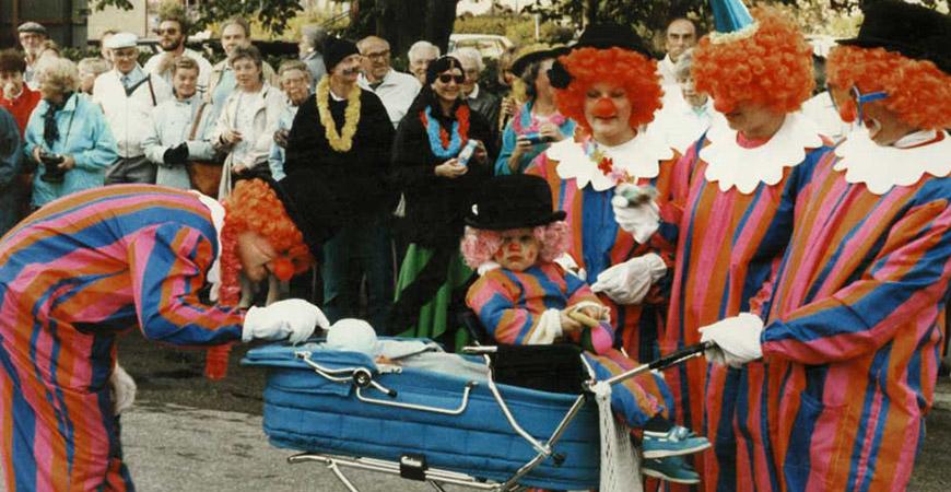 Clowntätt på karneval