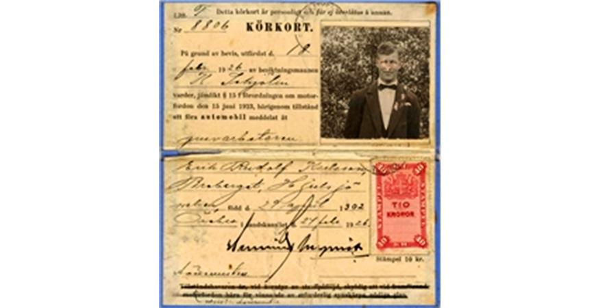 23 maj 1902: Sveriges första körkort utfärdas