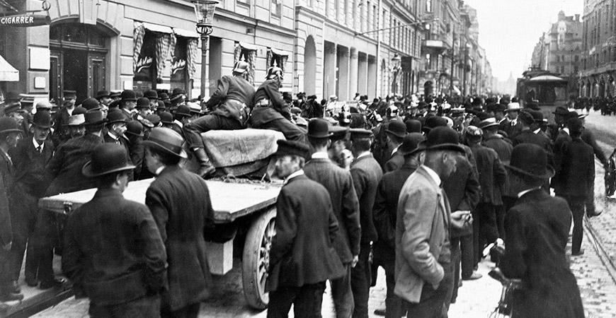 Storstrejken – fack och arbetsgivare i en första konflikt 1909