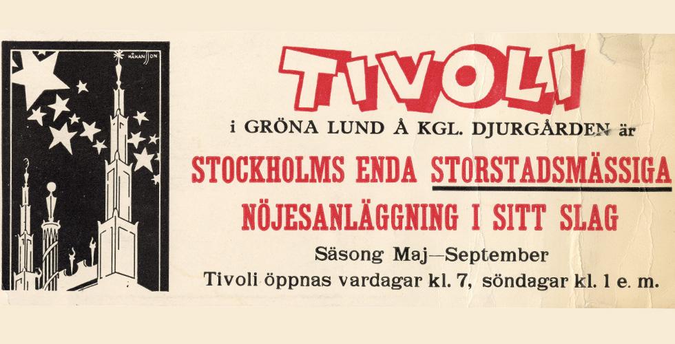 Svensk nöjeshistoria berättad med affischer