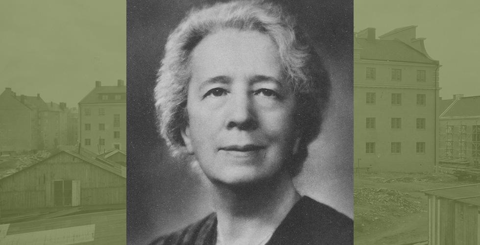 Blomsterfondens grundare Alma Hedin