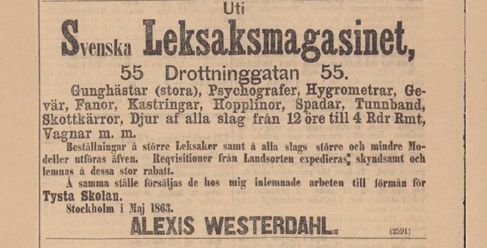 Julklappstips från 1861