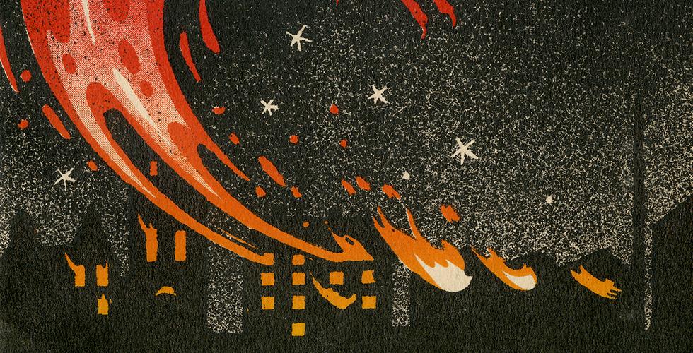 Gaffas arkiv försvann i storbrand